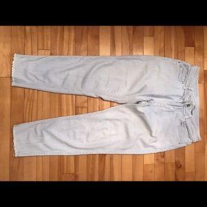 Zara striped denim pant Z1975